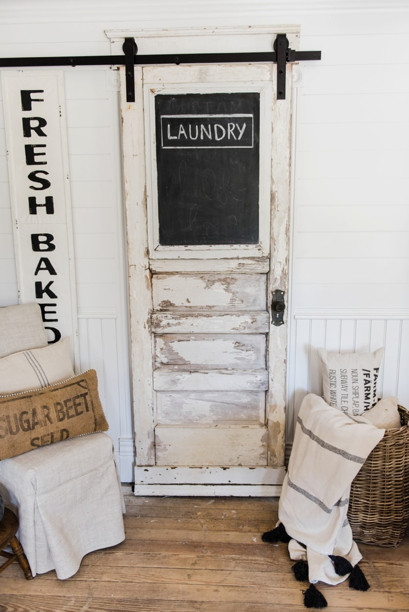 Sliding Barn Door Laundry Room