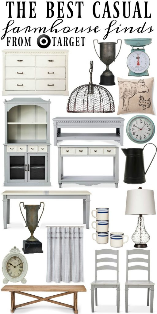 The best casual farmhouse finds from Target - A must pin for affordable  farmhouse decor!