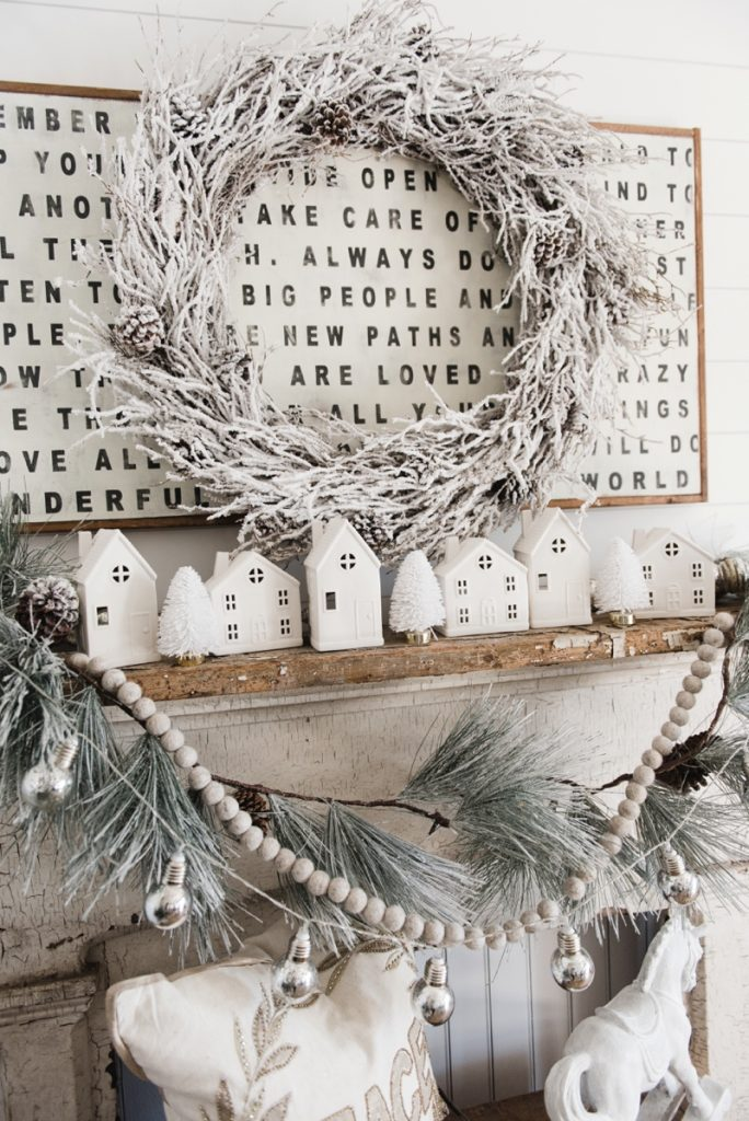 , Farmhouse Christmas Village Mantel