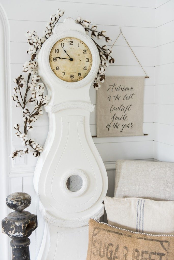 White French Style Clock painted with White Chalk Paint