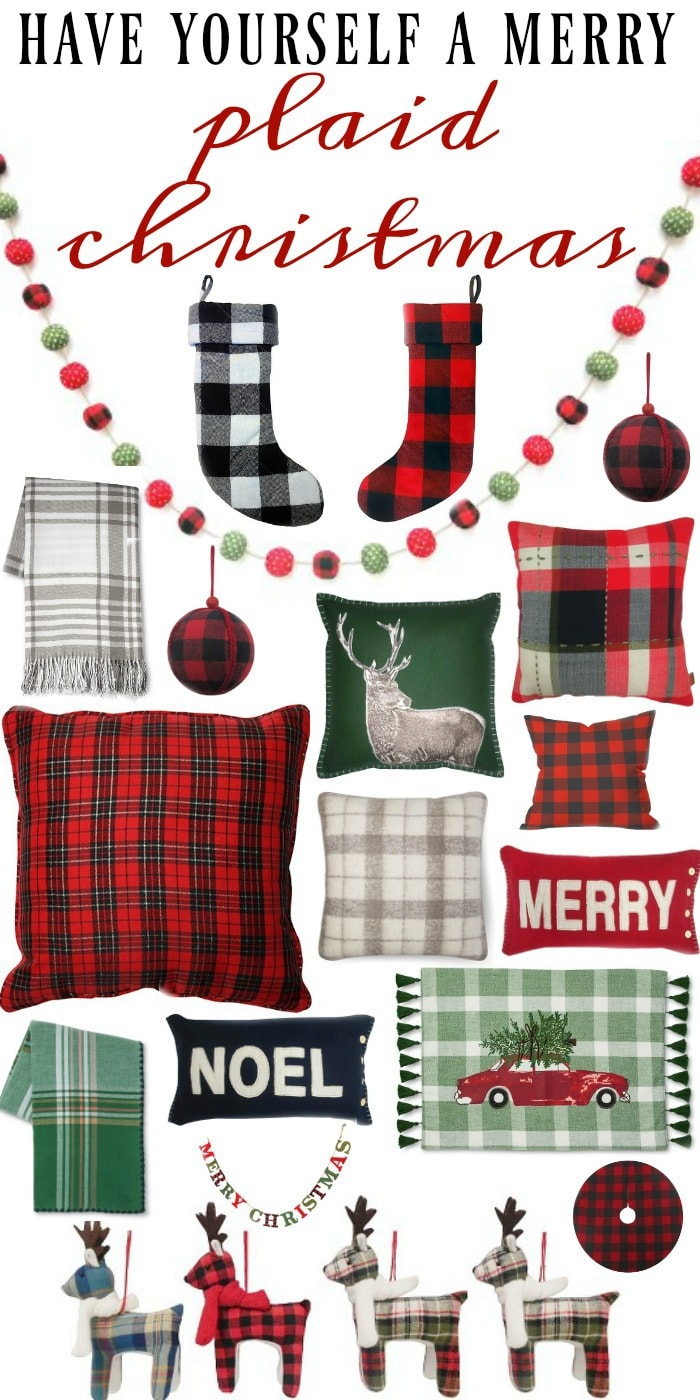 a very plaid christmas liz marie blog. Black Bedroom Furniture Sets. Home Design Ideas