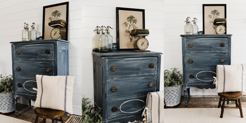 Old Plain Dresser brought back to life with Chalk Paint