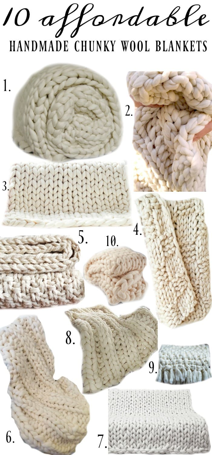 10 Affordable Chunky Wool Blankets