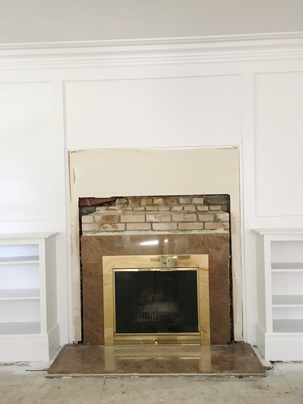 , Front Living Room Makeover – Shiplap On The Fireplace