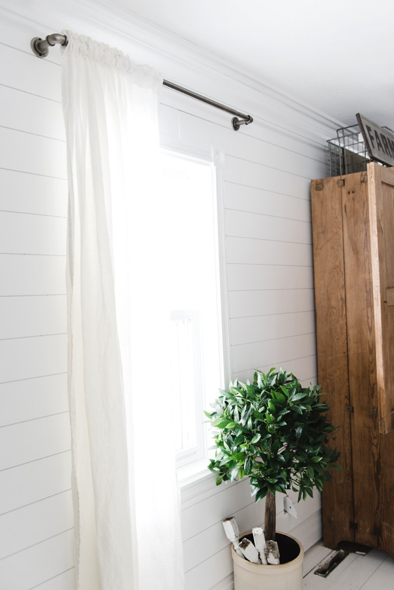 , Affordable Industrial Farmhouse Pipe Curtain Rods