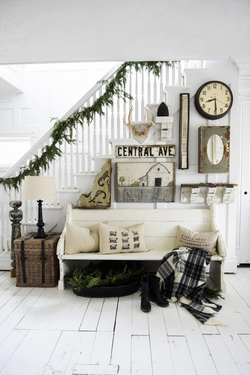 Cozy Farmhouse Winter Entryway Liz Marie Blog