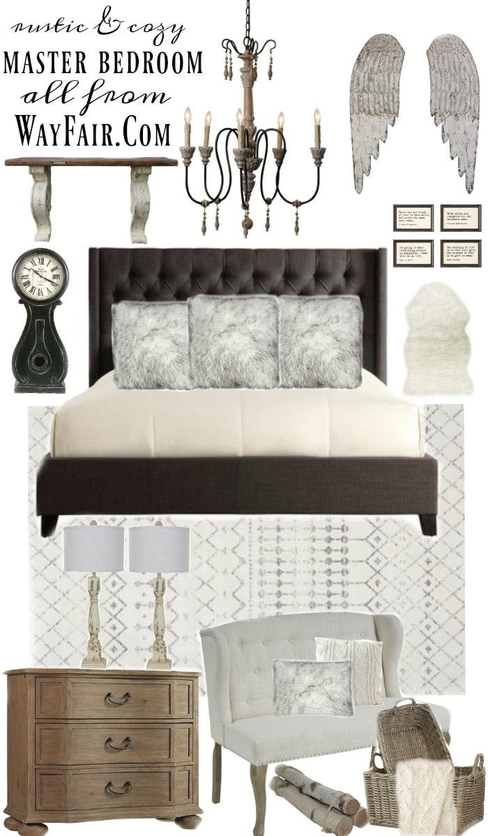 , Calm Blue Cottage Bedroom