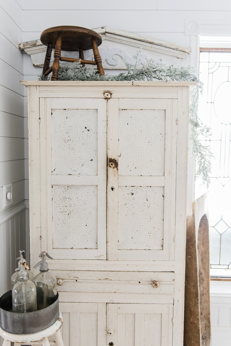 , Farmhouse Winter White Cabinet