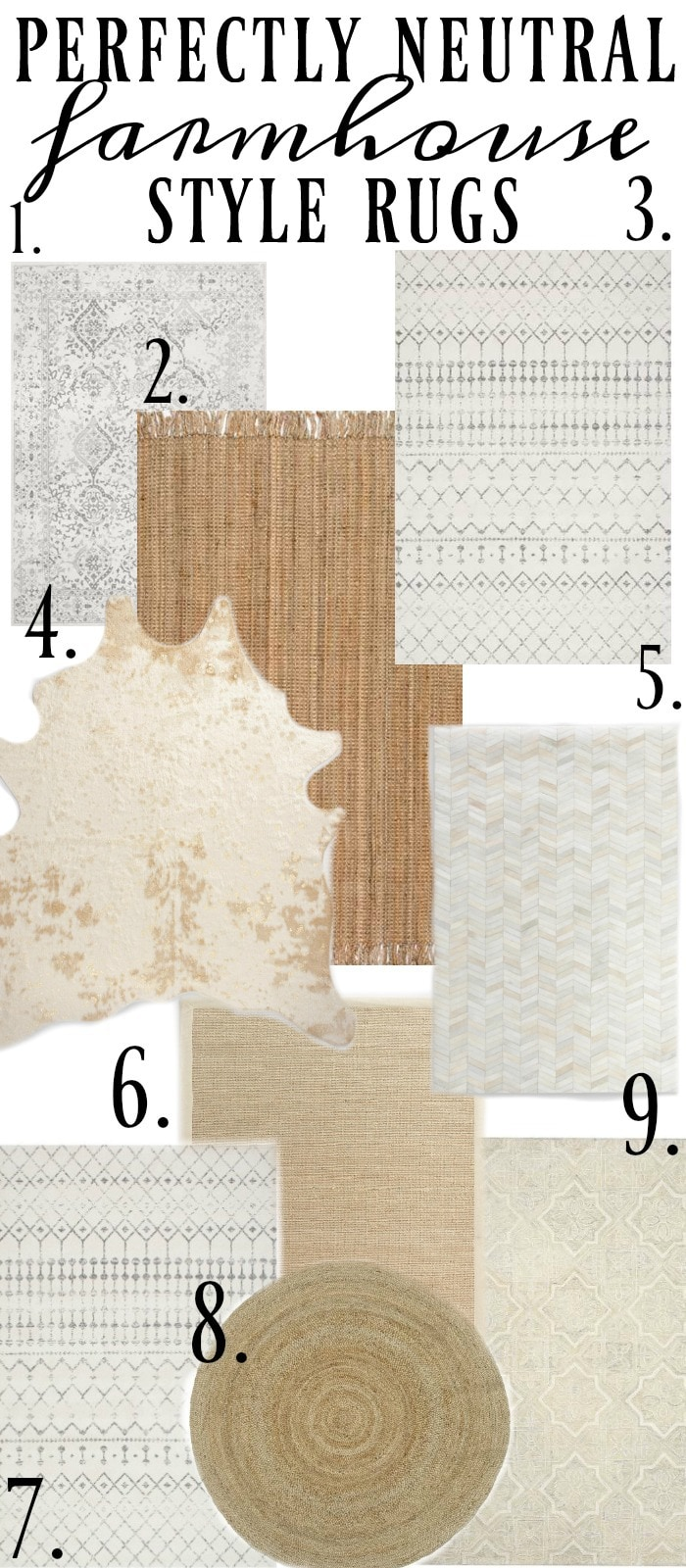 , The Best Neutral Farmhouse Style Rugs