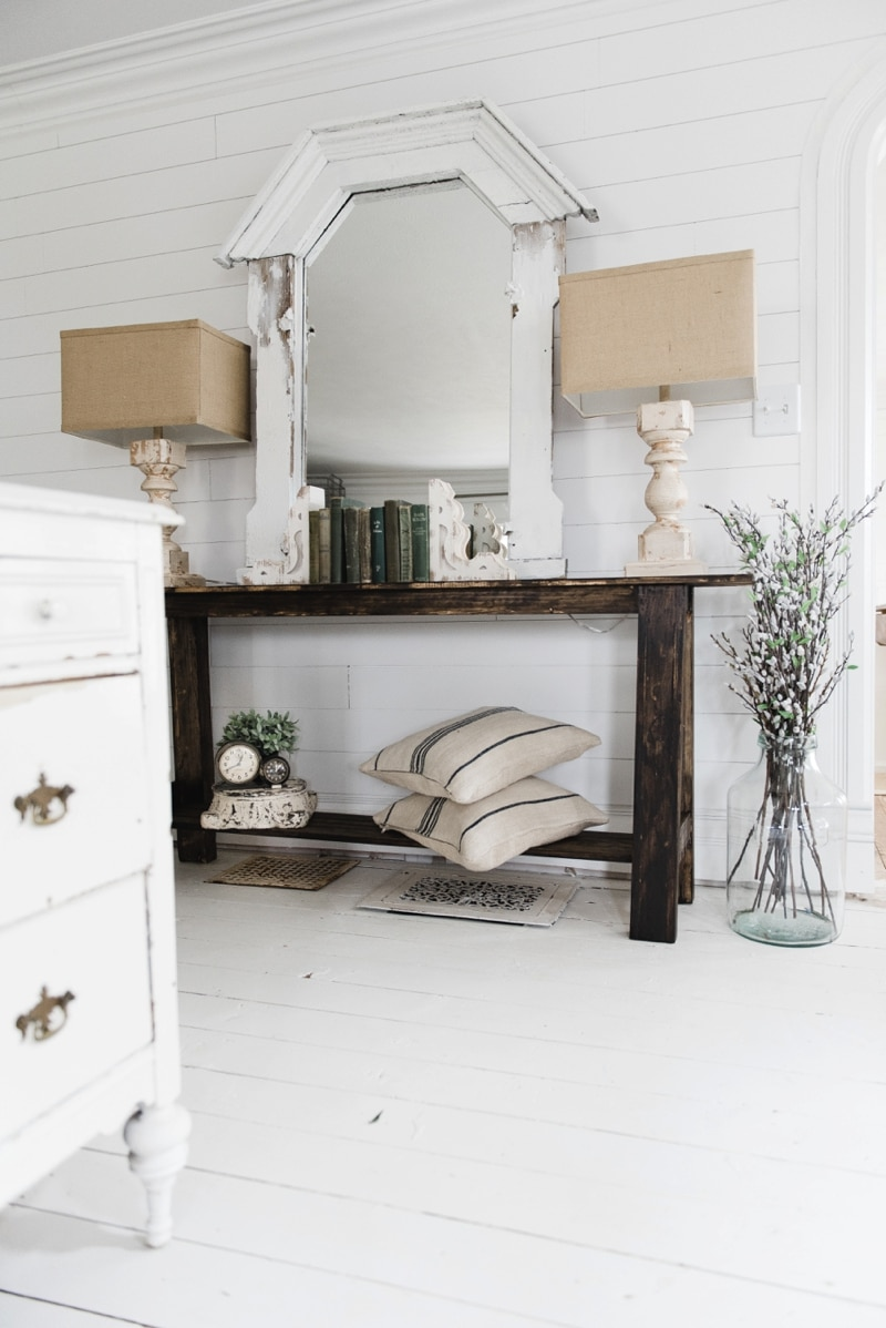 , DIY Rustic Small Console Table