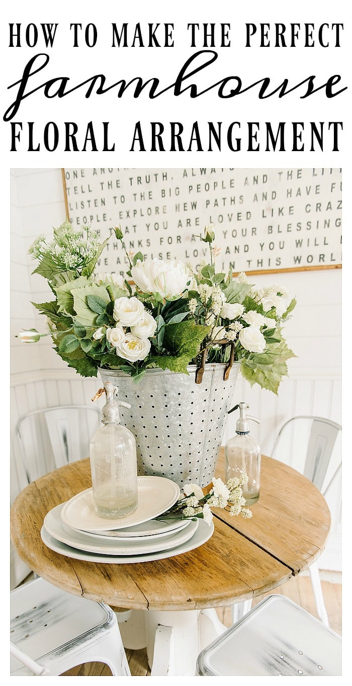 How to Make the Perfect Farmhouse Floral Arrangement