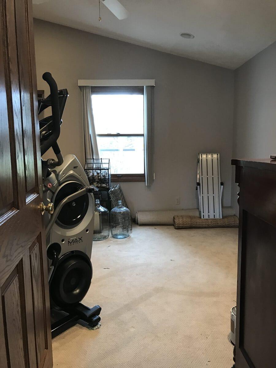 , Down stairs Guest Bedroom Progress