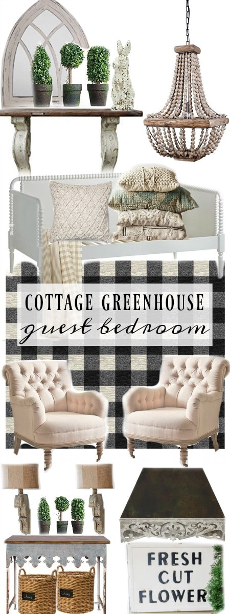 , Cottage Greenhouse Guest Bedroom