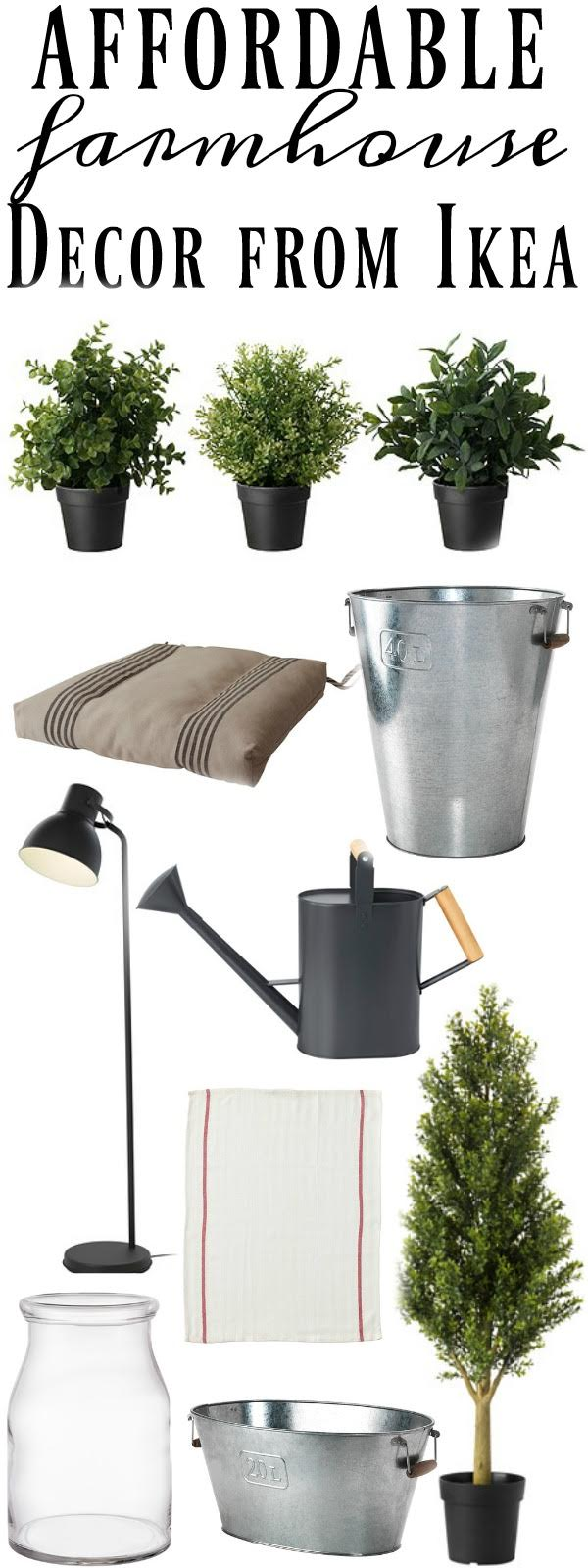 Farmhouse Decor From Ikea - The best farmhouse finds from Ikea styled in a farmhouse.