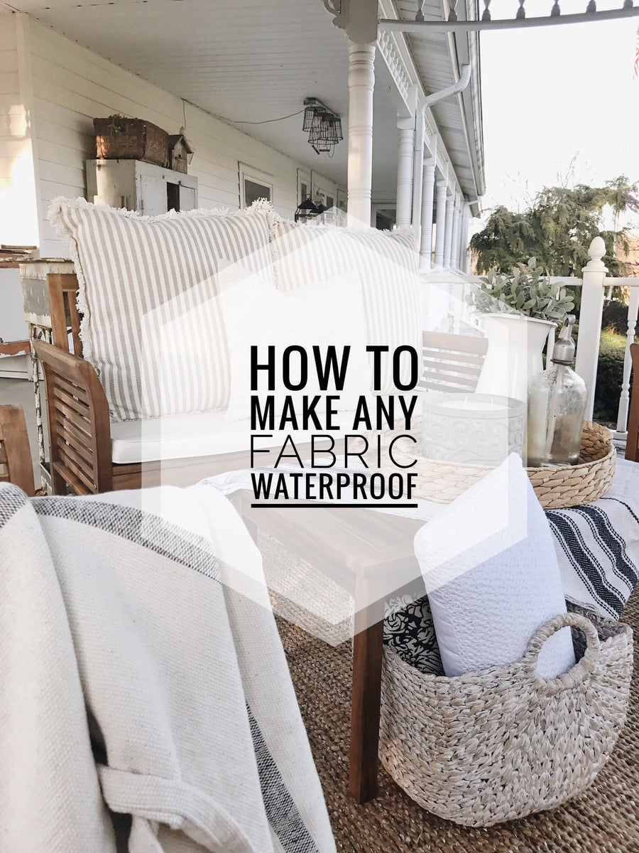 how to make fabric outdoor safe