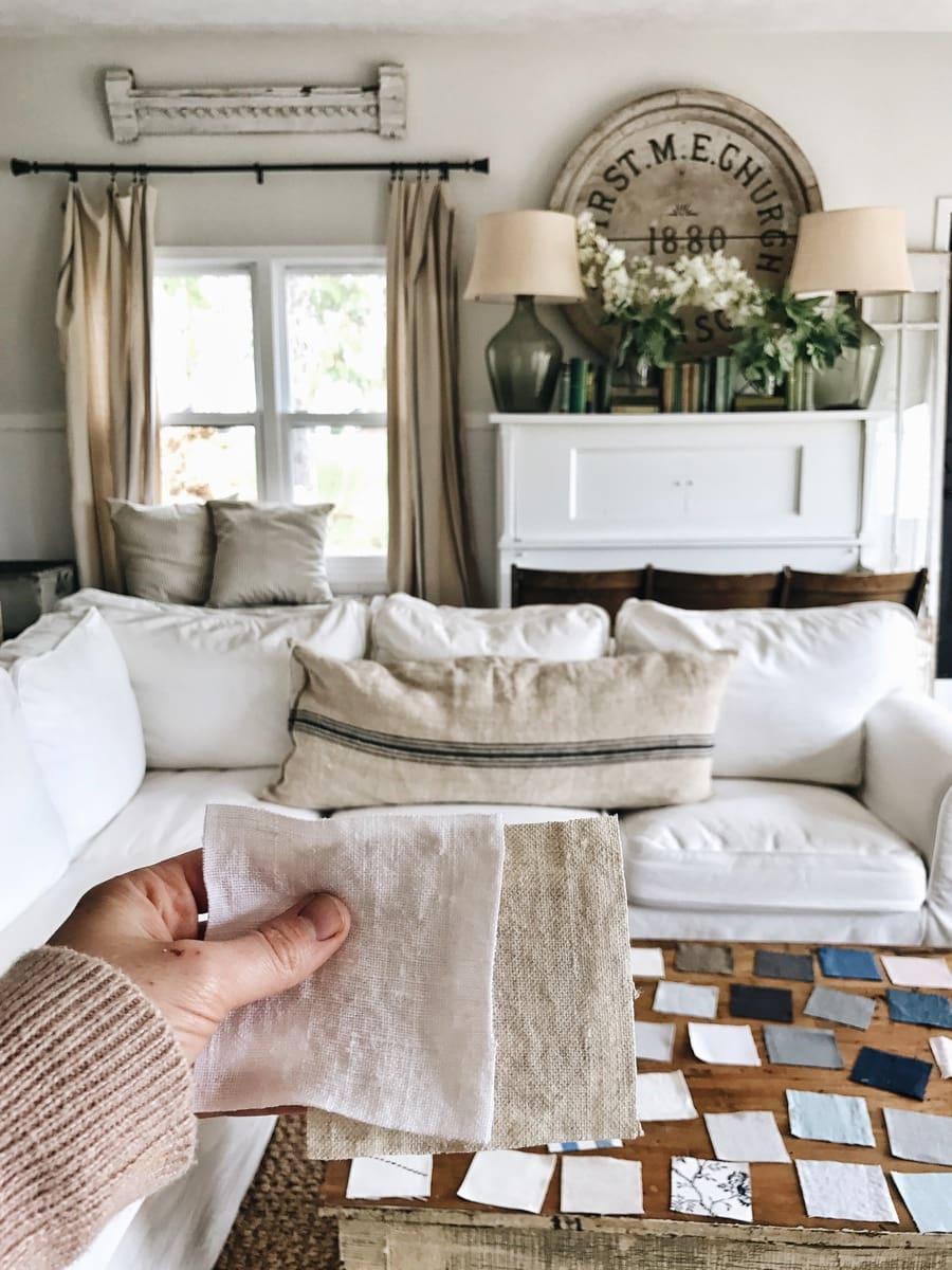 Ikea Sofa Slipcover Makeover Liz Marie Blog