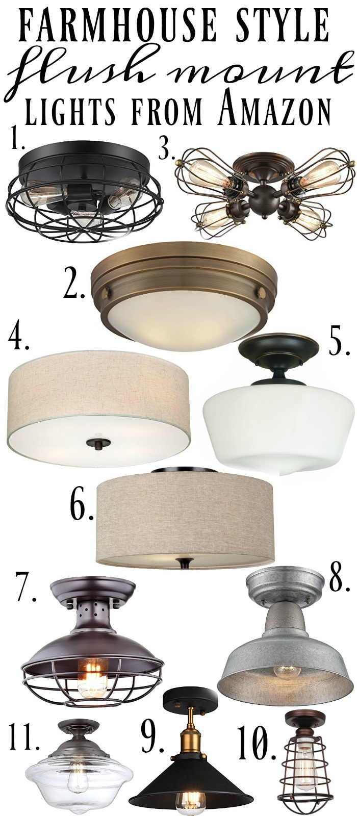 Farmhouse Style Flush Mount Lights HERE