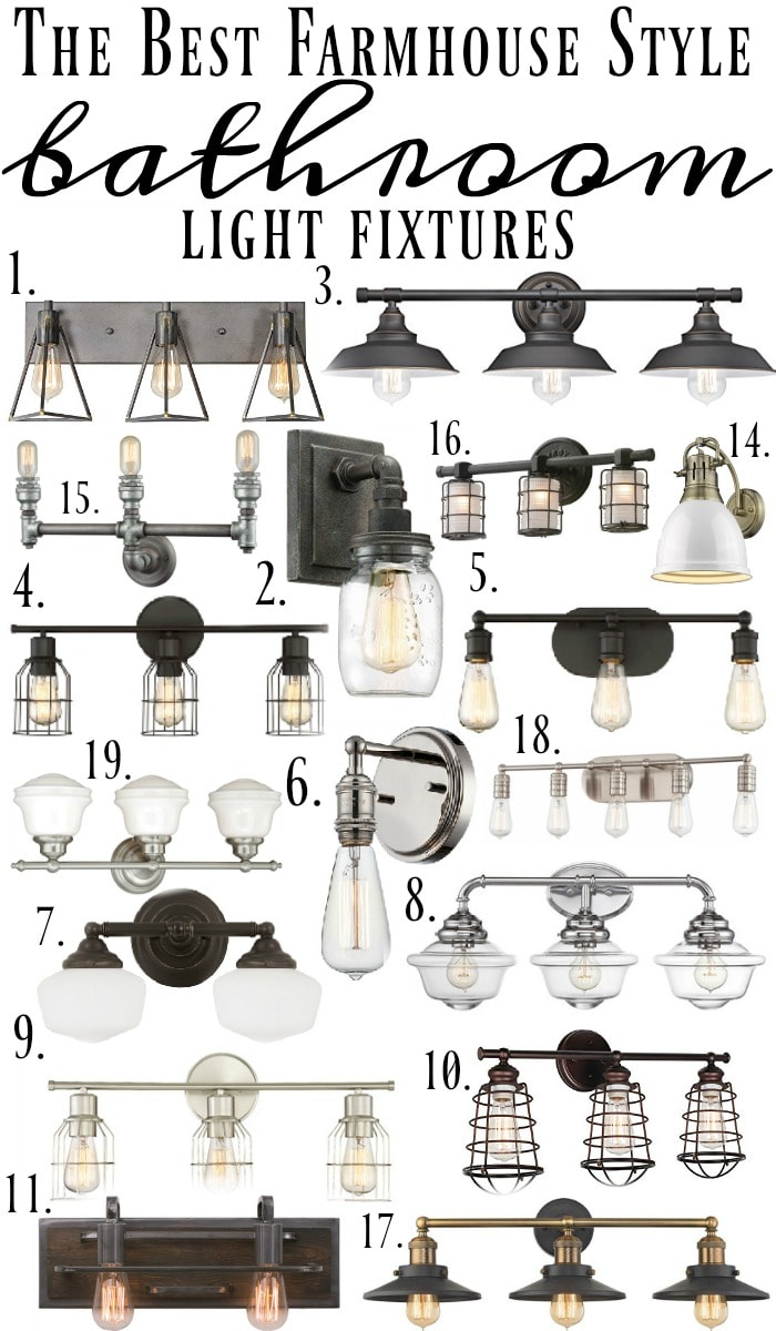 farmhouse bathroom light fixtures farmhouse style bathroom light fixtures 18276