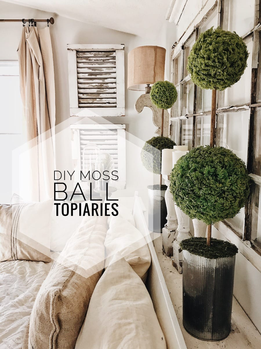 Diy Moss Ball Topiaries Liz Marie Blog