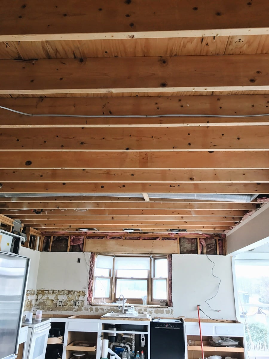 , Kitchen Makeover Update: Repurposed Ceiling Boards