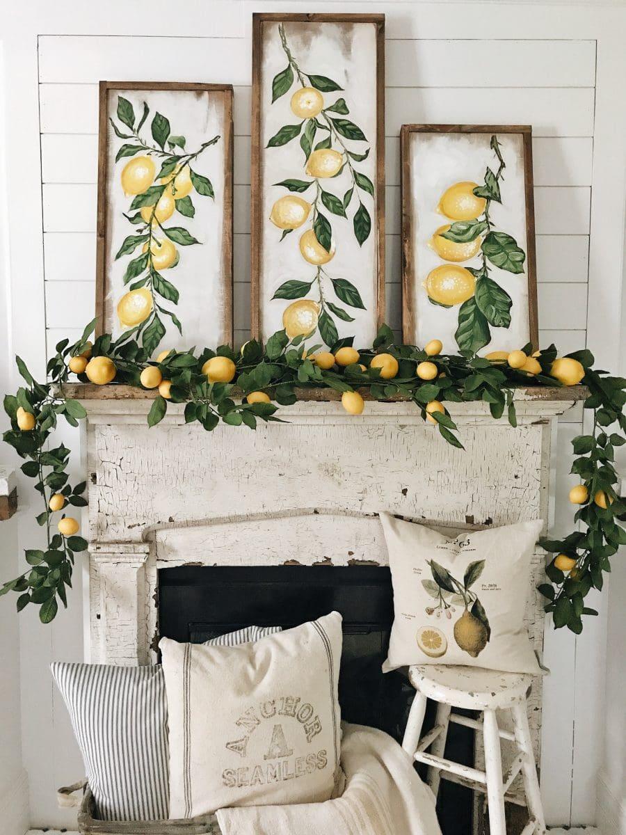 Summer Lemon Mantel – Four Ways