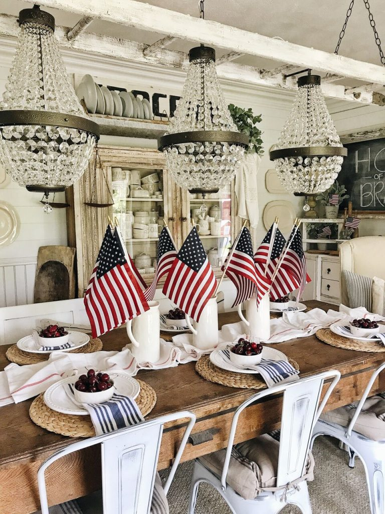 , Farmhouse Fourth Of July In The Dining Room