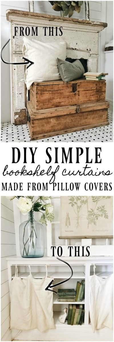 ikea pillows, DIY Bookshelf Curtains From Ikea Pillows