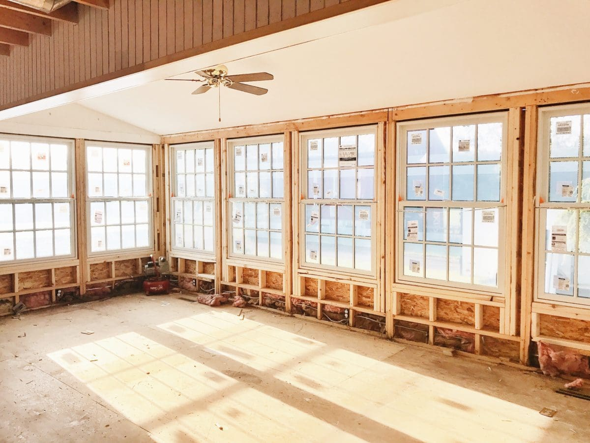 Anderson Windows, We Have Windows In The Sunroom!!