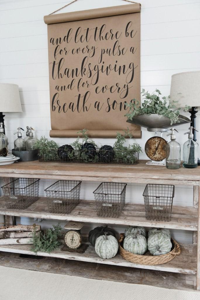 Farmhouse Style Buffet