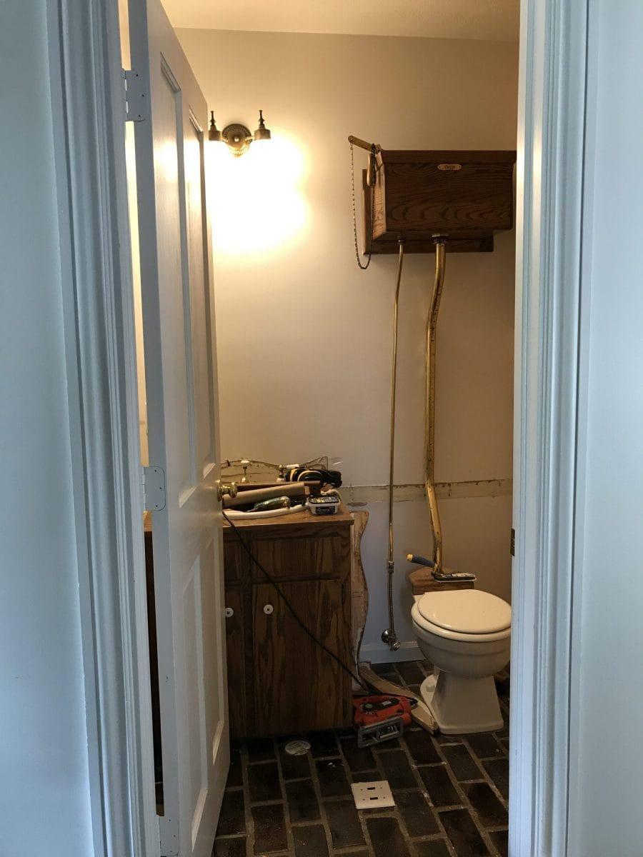 , Entryway Bathroom Progress