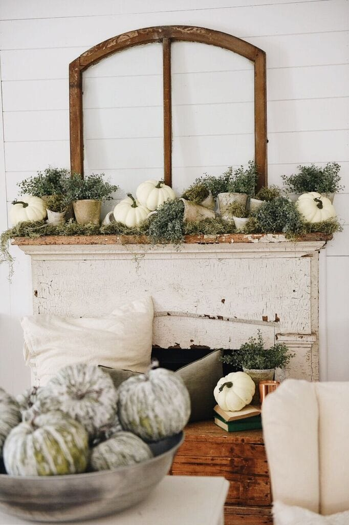 Fall Mantel, Rustic Garden Fall Mantel