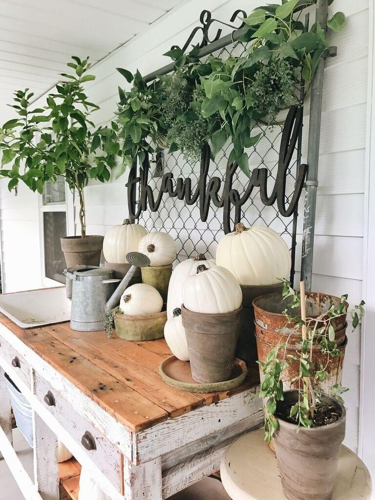 Simple Fall Decor, Simple Fall Farmhouse Entryway