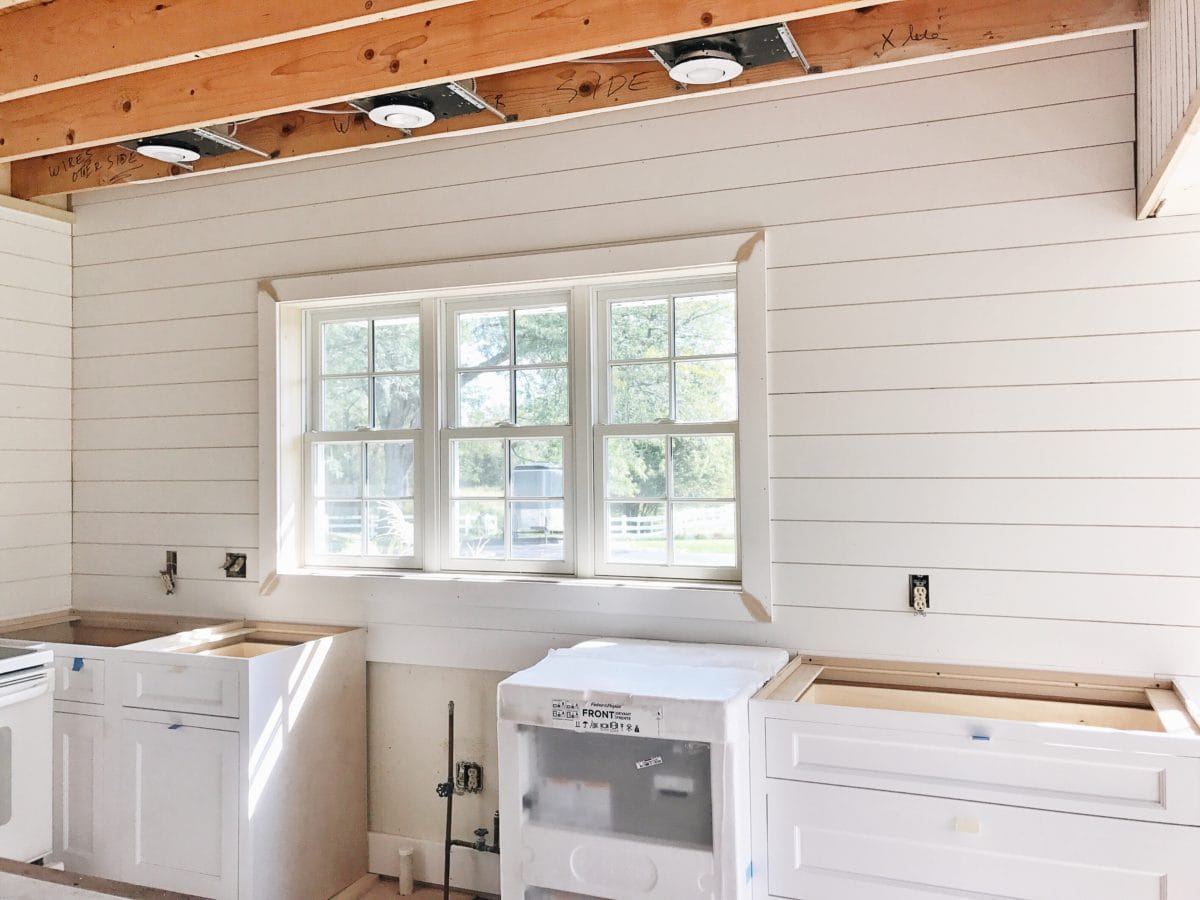 , Kitchen & Sunroom Update – Shiplap & Cabinets