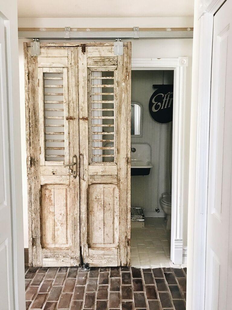 , A Door Change In The Half Bath