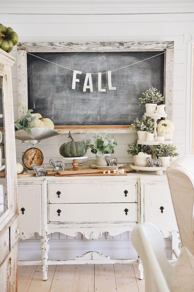 Fall Farmhouse, A Neutral Fall Farmhouse Buffet