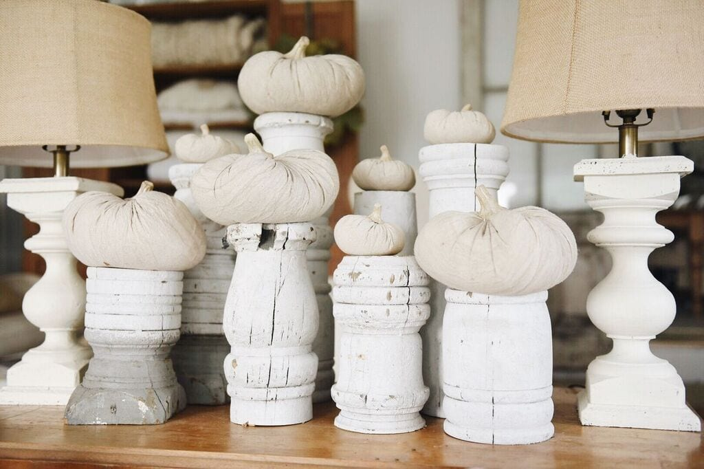 Fabric Pumpkins, Fall Farmhouse Fabric Pumpkins