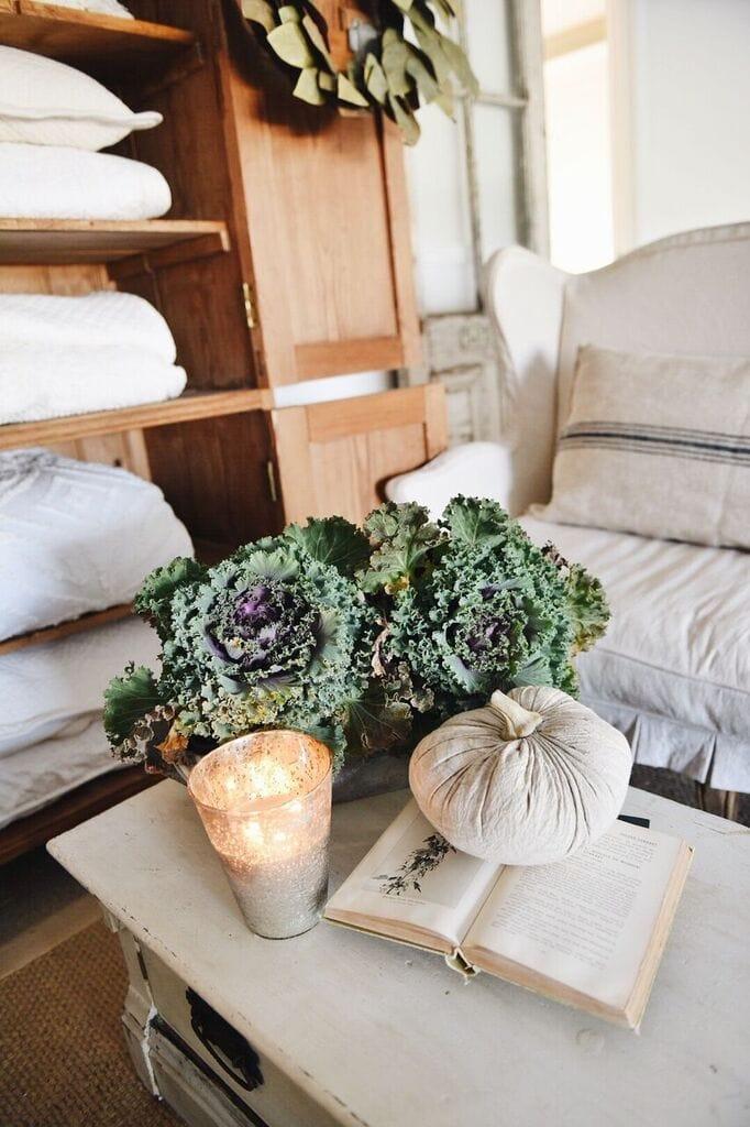 Simple Fall Decor, Simple Neutral Fall Family Room