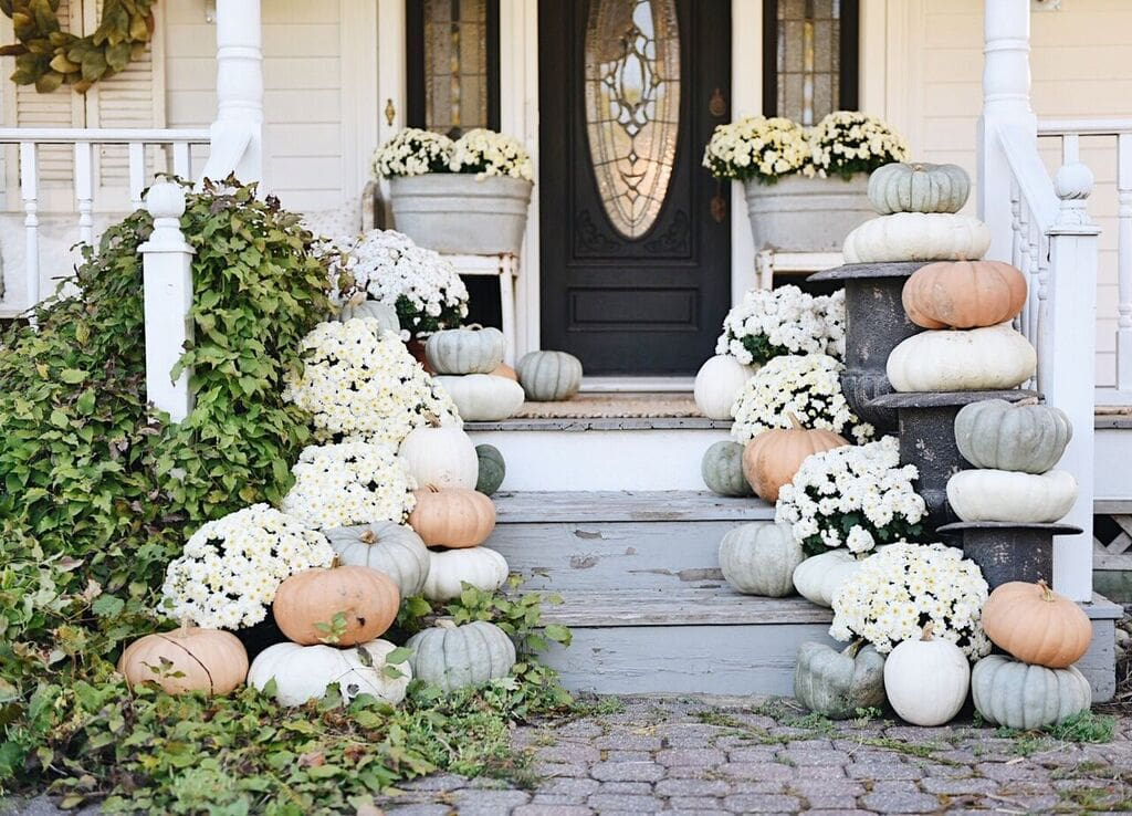 Rustic Cottage Farmhouse Fall Porch Steps