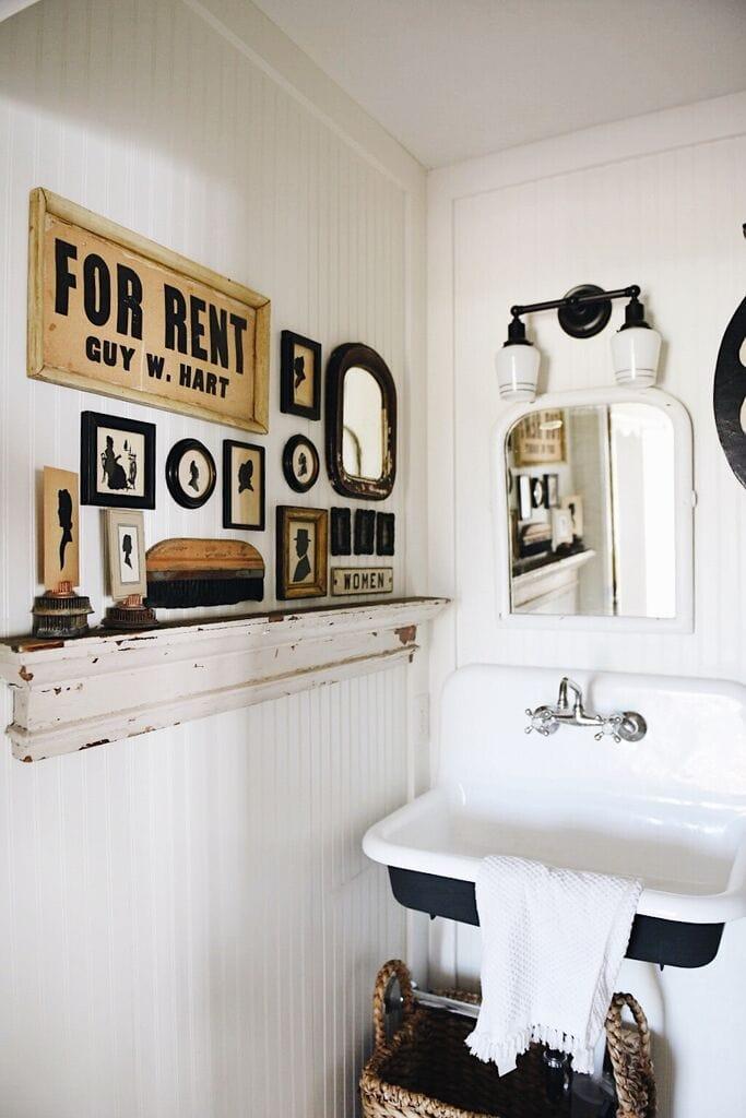 , Entryway Bathroom Gallery Wall