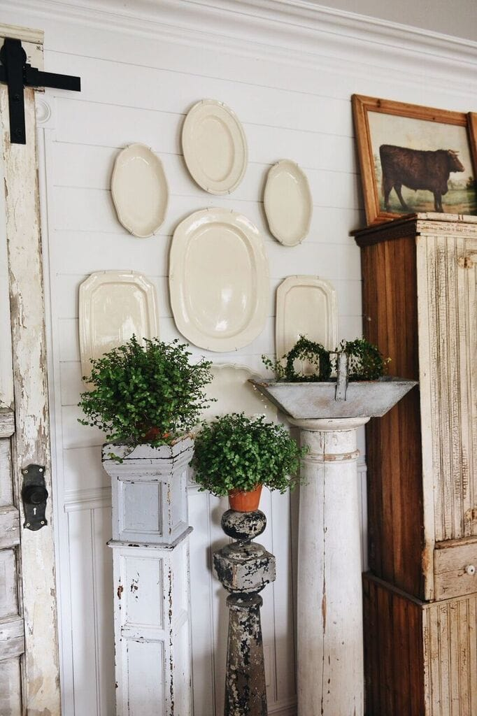 The Easiest Way To Hang A Plate Wall