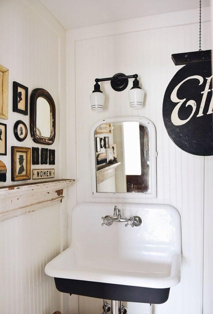 School House Electric Bathroom Light - Liz Marie Blog