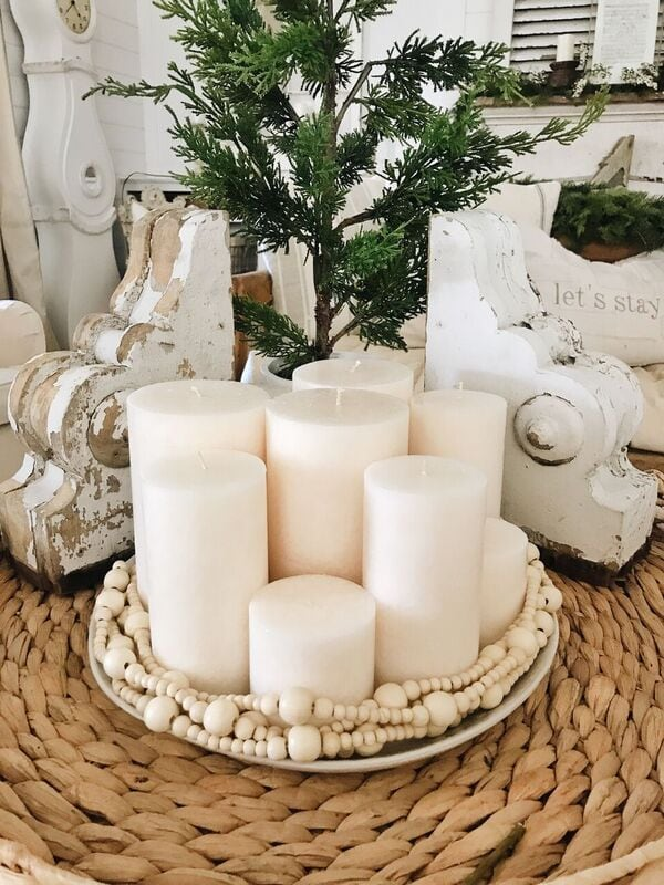 , Simple Candle Centerpiece