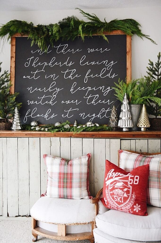 , Hand Painted Christmas Sign