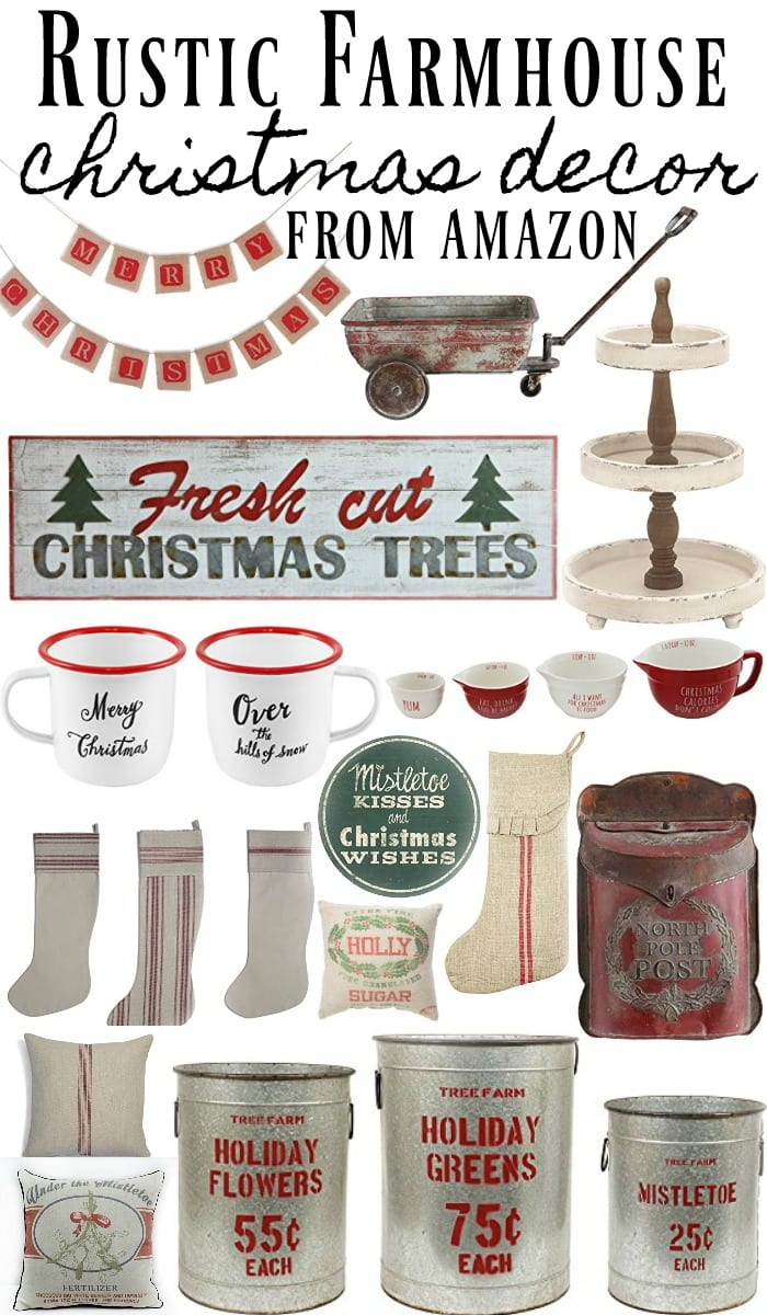 Farmhouse Christmas Decor From Amazon