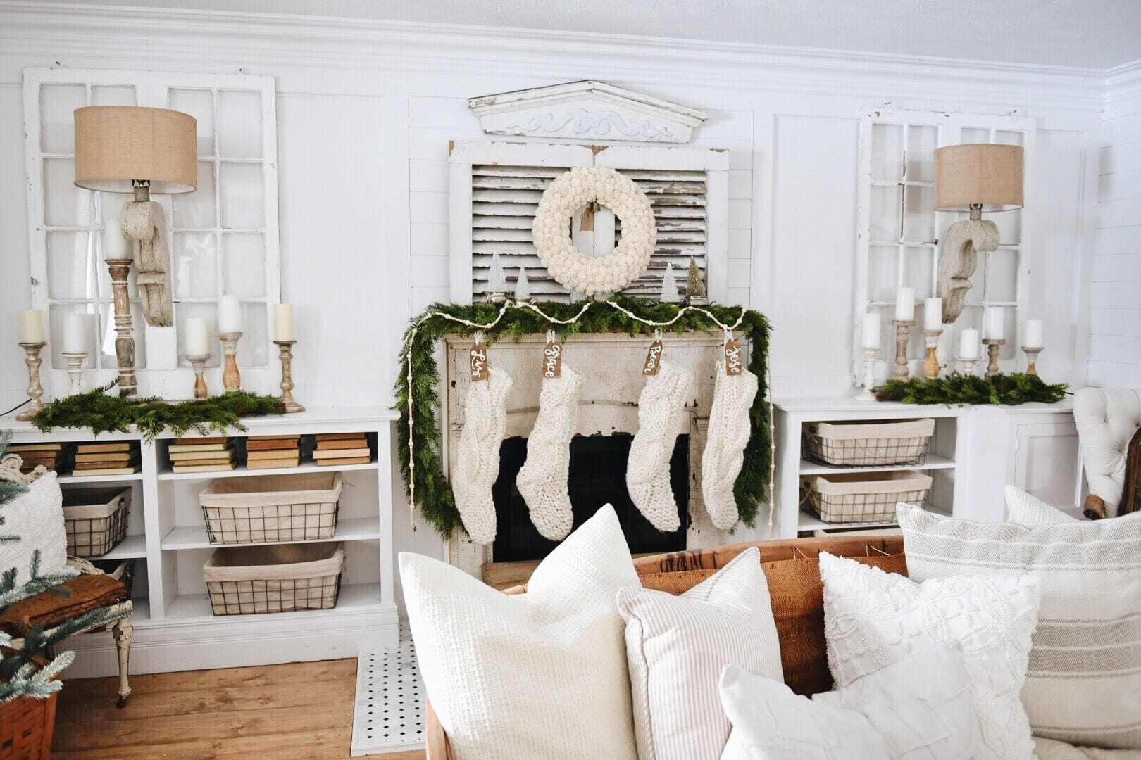 How to decorate a mantel for christmas, One Mantel…Two Christmas Styles