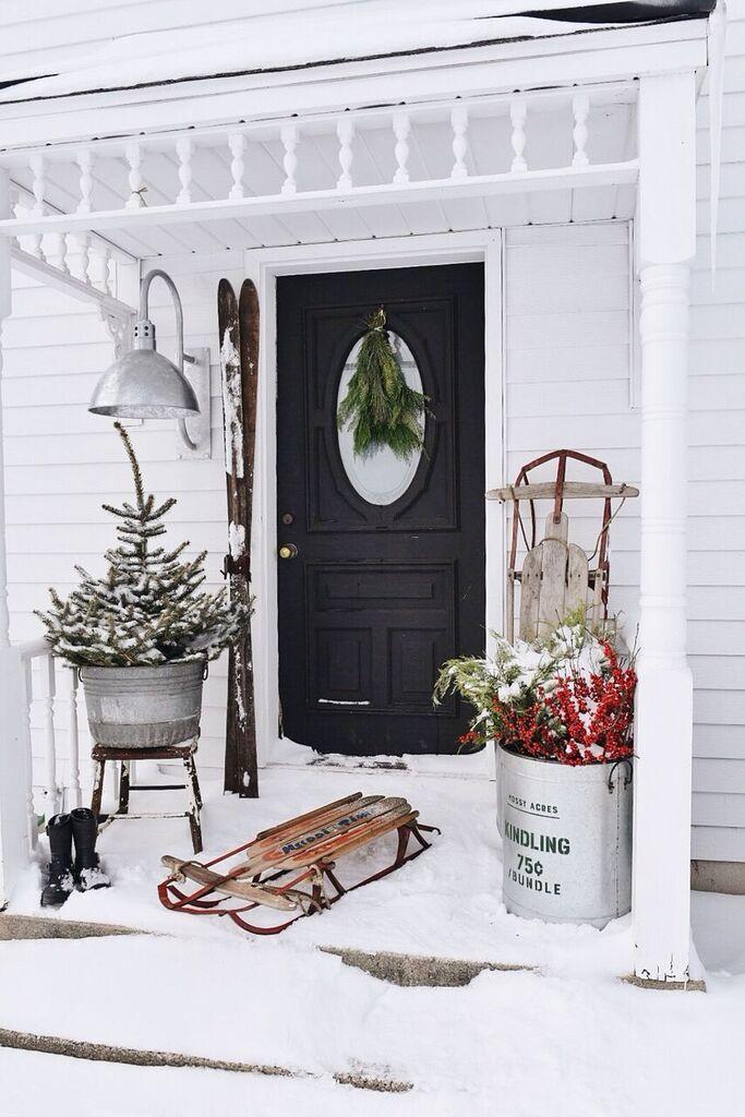 Farmhouse Merry Christmas Stoop