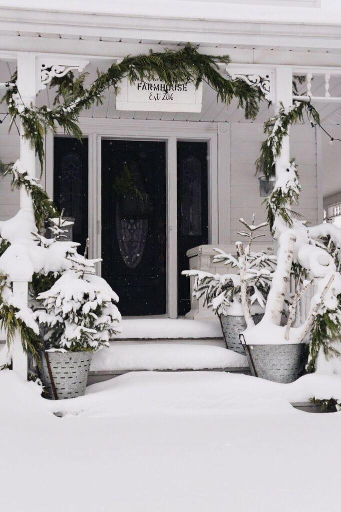 , Our Farmhouse Winter Porch