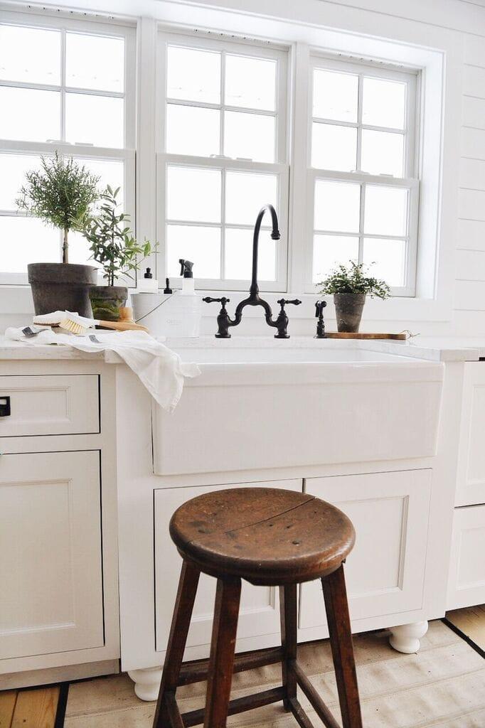 Our New Farmhouse Sink Amp Setup Liz Marie Blog