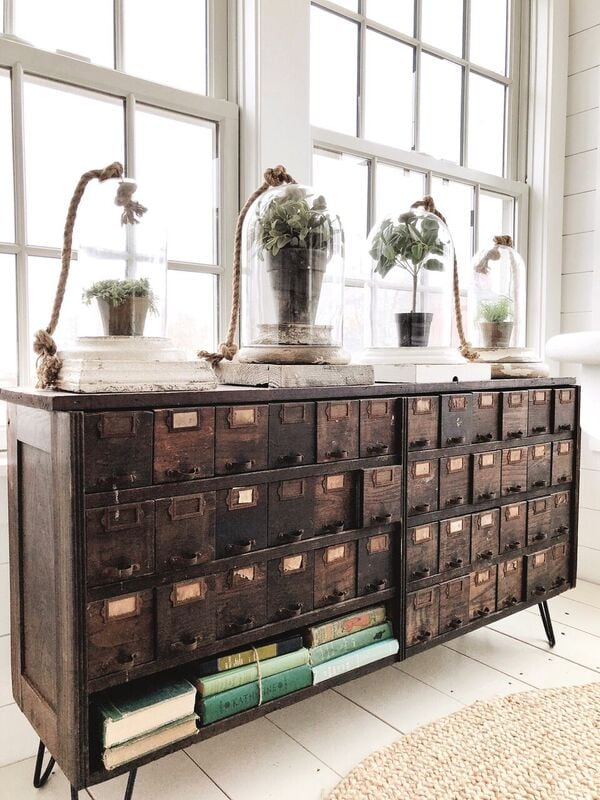 , A New Apothecary Cabinet In The Sunroom