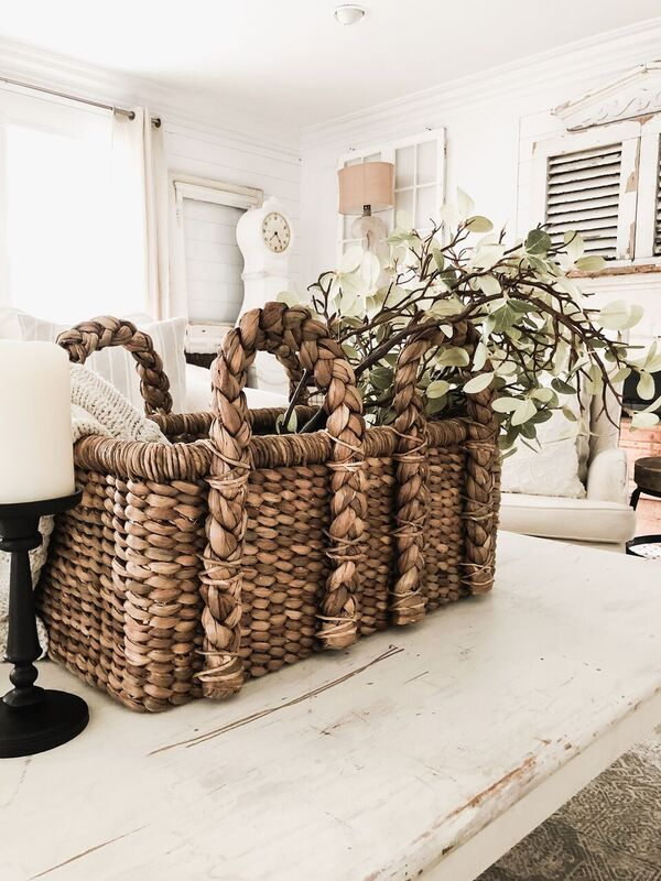 greenery, DIY Greenery Basket Decor